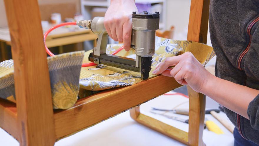 Una muestra de tapiz