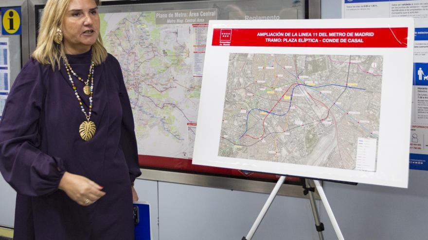 Gonzalo presenta el proyecto de ampliación de la línea 11 de Metro