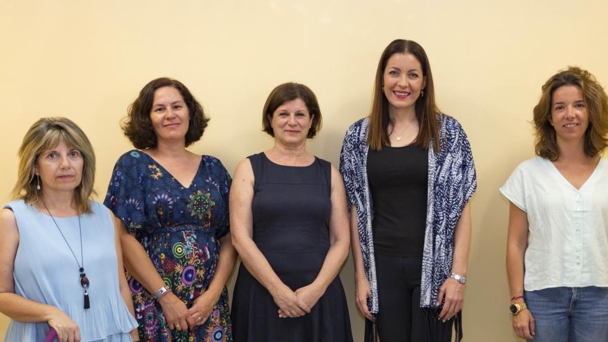 Lola Moreno visita el Punto de Violencia de Género de Carabanchel