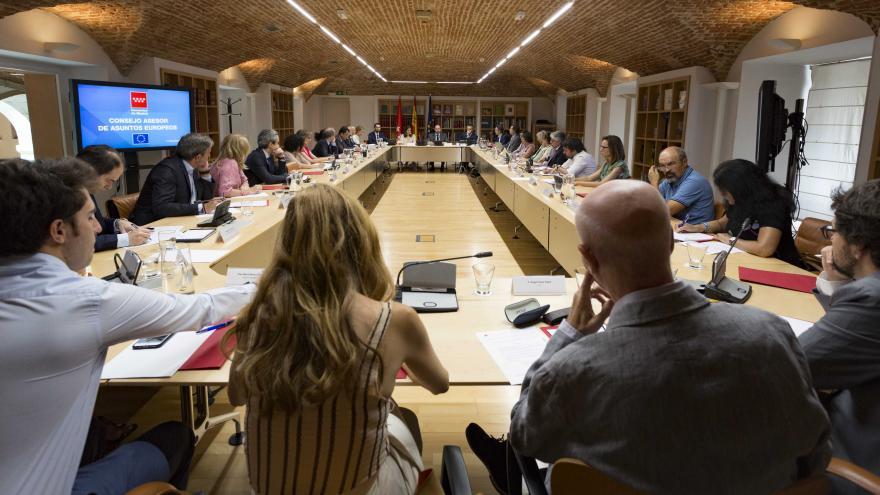 La Comunidad de Madrid ha dado un nuevo impulso a la actividad del Consejo Asesor de Asuntos Europeos como órgano de participación, consulta y asesoramiento en materias relacionadas con la Unión Europea, celebrando una sesión plenaria a la que han asistid