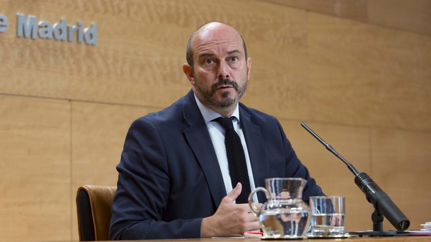 Pedro Rollán durante la rueda de prensa