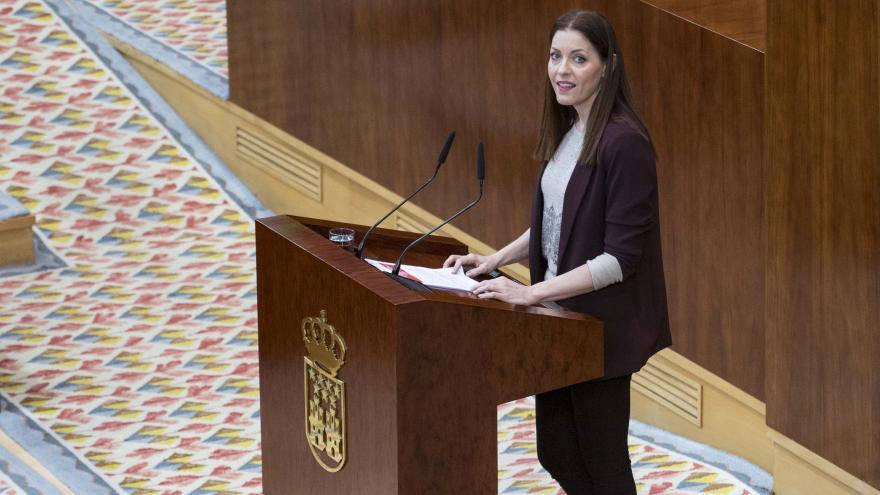 Lola Moreno durante su intervención