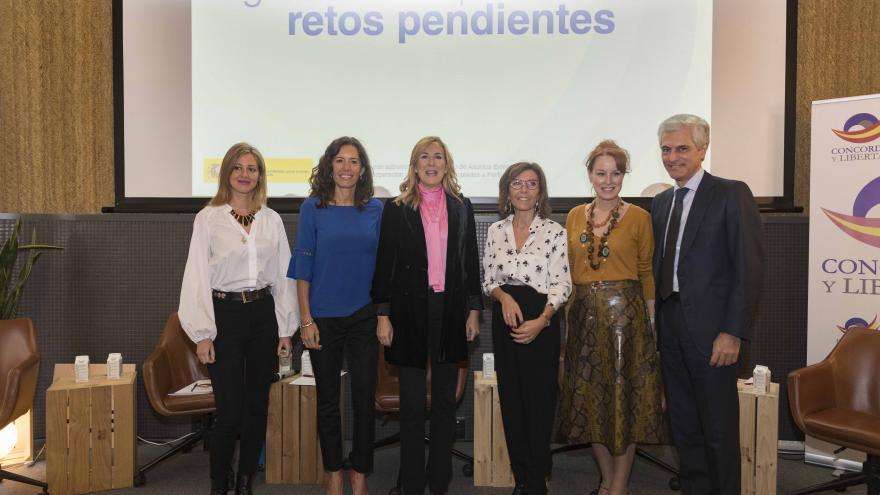Eugenia Carballedo en la jornada 'Igualdad de oportunidades: retos pendientes', organizada por la Fundación Concordia y Libertad