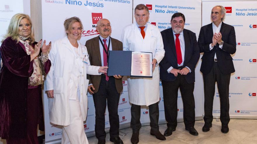 La Comunidad entrega la marca de garantía Madrid Excelente al Hospital Infantil Niño Jesús