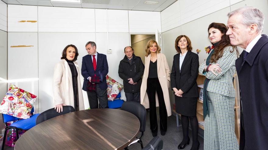Yolanda Ibarrola visitando las nuevas instalaciones de la Fiscalía