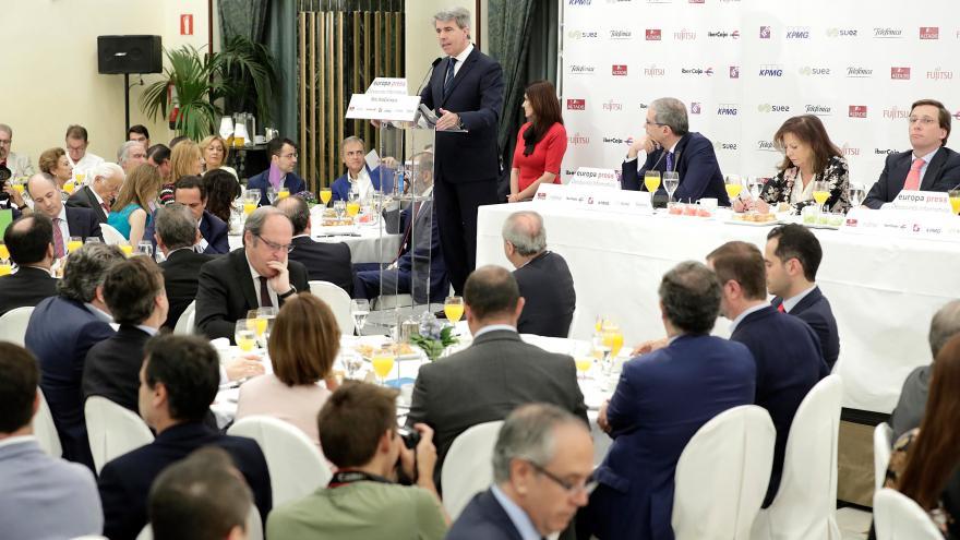 Garrido participa en los desayunos informativos de Europa Press