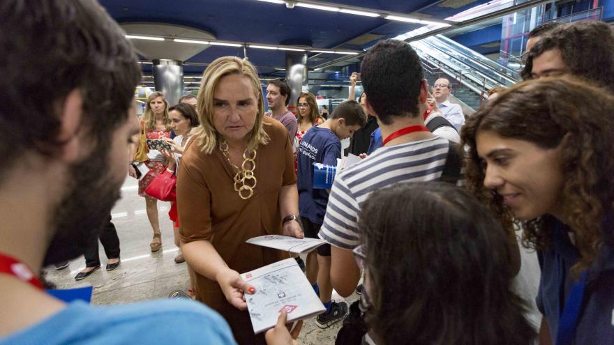 Rosalía Gonzalo presenta la II Yincana que organiza Metro Madrid