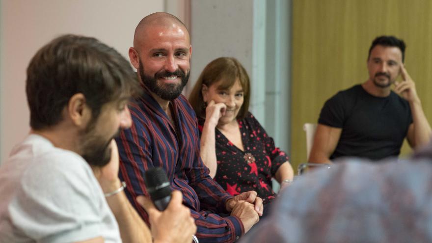 Jaime de los Santos durante la presentación