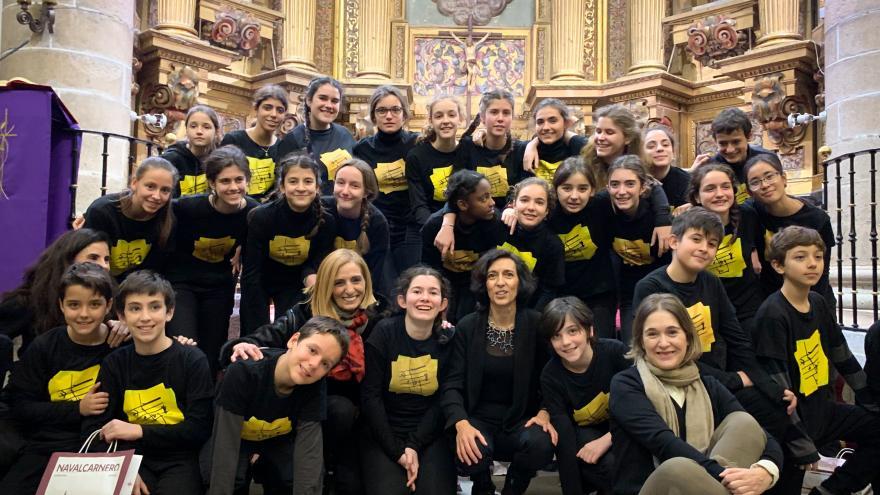 Marta Rivera en el Concierto de Navidad en Navalcarnero