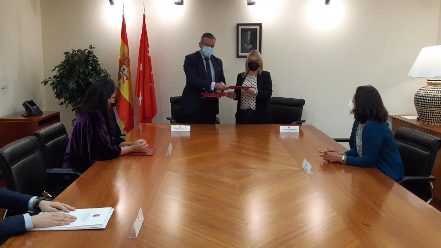 La Comunidad de Madrid firma un convenio de colaboración con la Fundación Miguel Ángel Blanco  .
