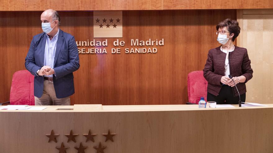 Rueda de prensa de Antonio Zapatero y Elena Andradas