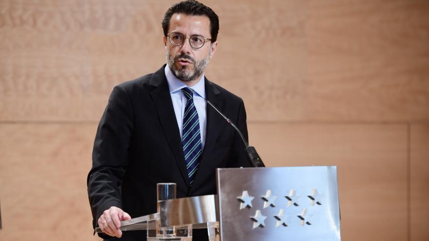 Javier Lasquetty durante la rueda de prensa posterior al Consejo de Gobierno