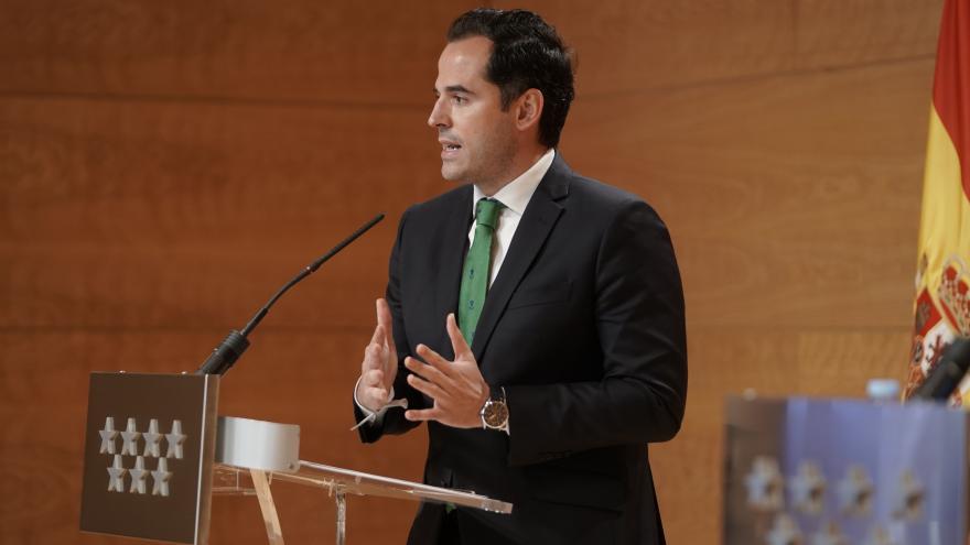 Ignacio Aguado, en rueda de prensa posterior al Consejo de Gobierno