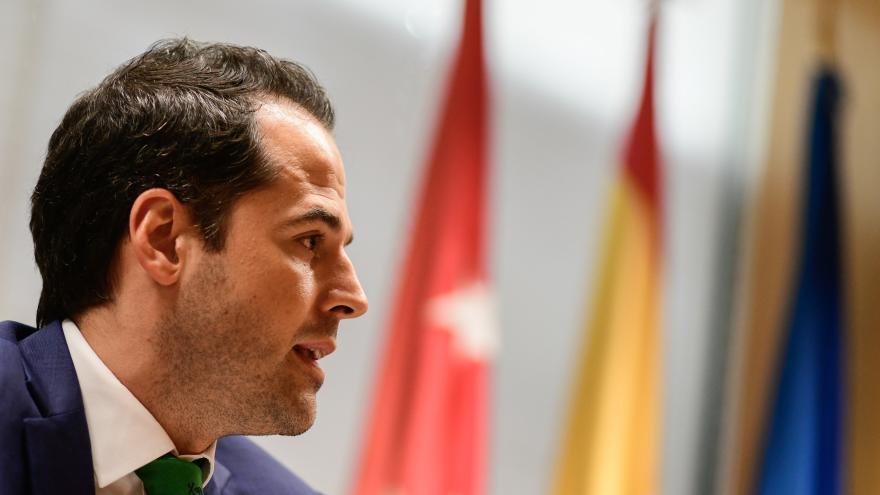 Primer plano de Ignacio Aguado en la Asamblea de Madrid