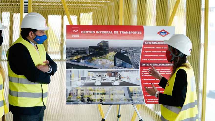 David Pérez ha visitado el avance de las obras de la nueva sede de Metro de Madrid