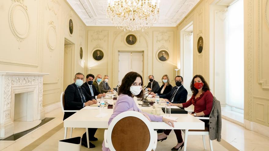 Díaz Ayuso preside la reunión del Consejo de Gobierno en la Real Casa de Correos