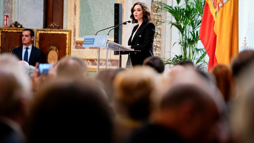 Isabel Diaz Ayuso durante su intervención