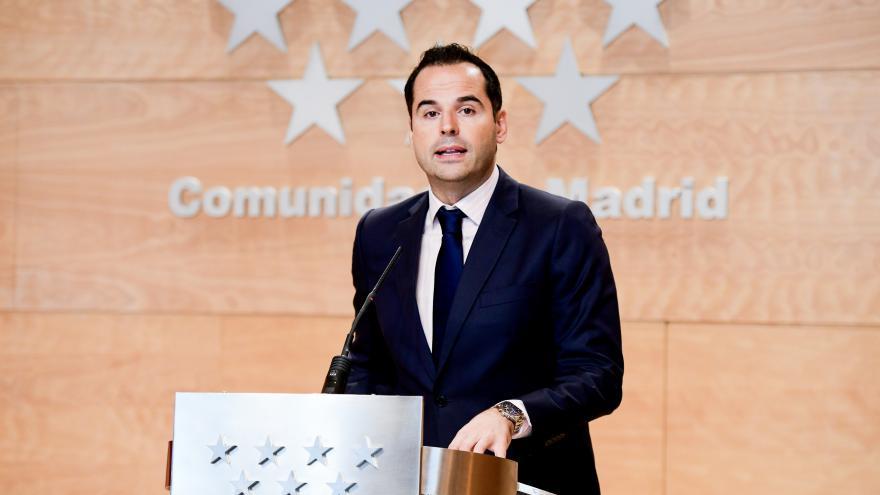 Imagen de Ignacio Aguado en la rueda de prensa posterior al Consejo de Gobierno