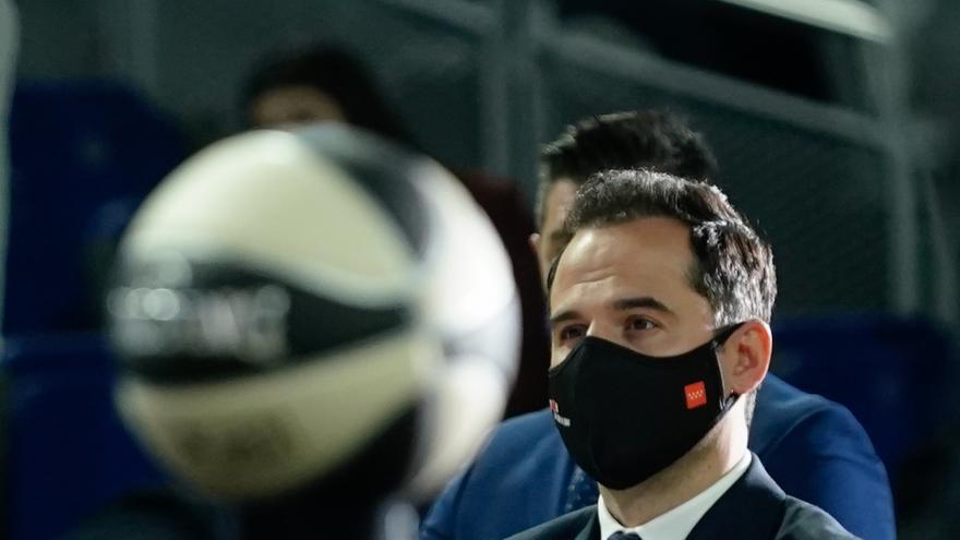 Ignacio Aguado asiste al sorteo de emparejamiento de los equipos que competirán por la Copa del Rey ACB 2021