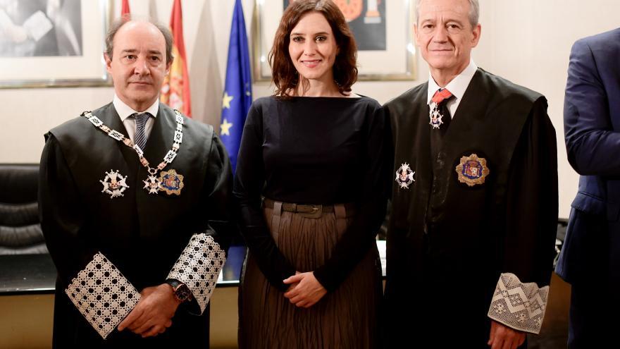 Imagen de Isabel Díaz Ayuso durante la solemne de apertura del Año Judicial