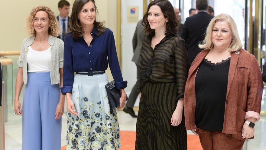 La Reina Letizia y Díaz Ayuso durante las Jornadas