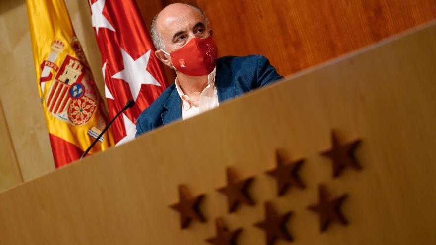 El viceconsejero de Salud Pública y Plan COVID-19, Antonio Zapatero, en rueda de prensa