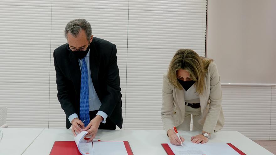 El consejero de Educación y Juventud ha firmado el convenio con la presencia de la presidenta para Western Europe de Microsoft