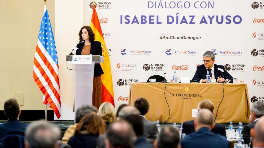 Isabel Díaz Ayuso durante su intervención