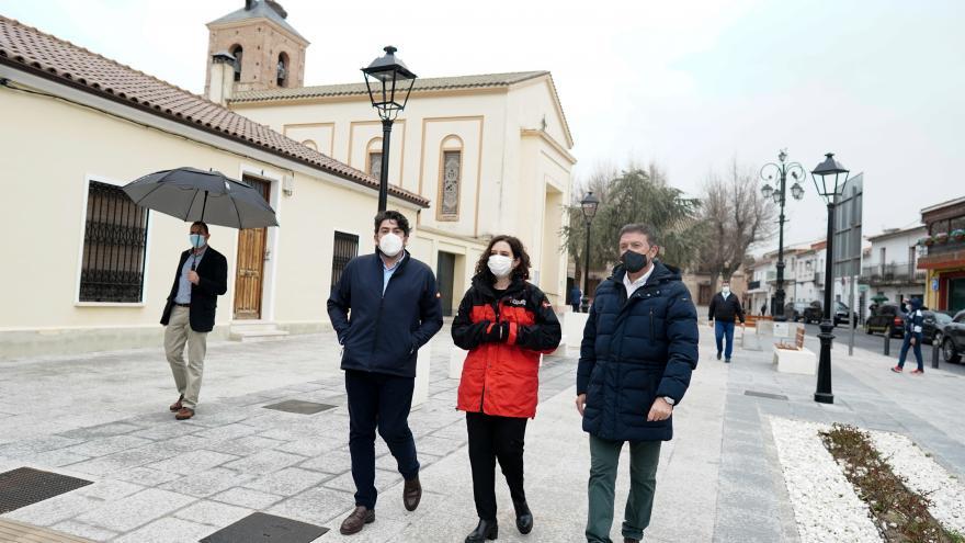 Díaz Ayuso en la visita
