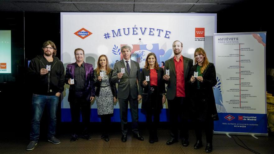 Ángel Garrido durante la presentación de la campaña