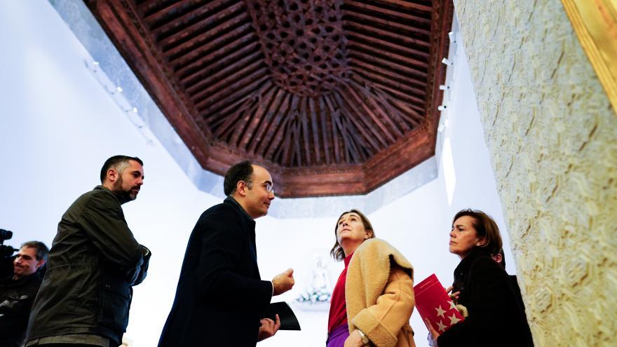 Marta Rivera durante la visita