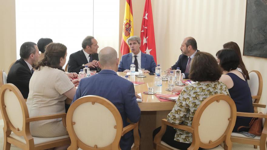 Garrido durante la reunión con el Tercer Sector