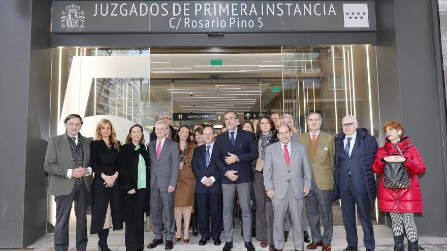 Enrique Lopez durante la visita