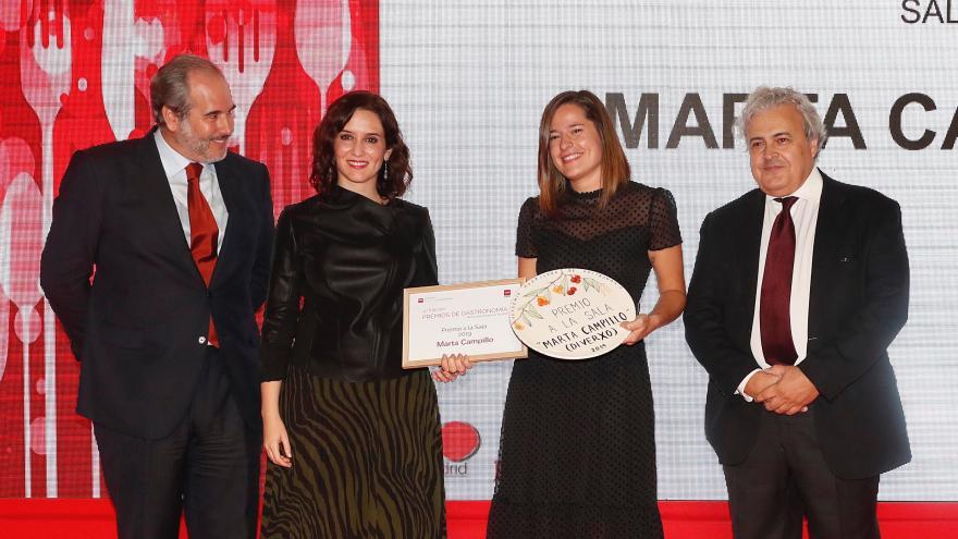 Isabel Díaz Ayuso en la V edición de los Premios de la Academia Madrileña de Gastronomía