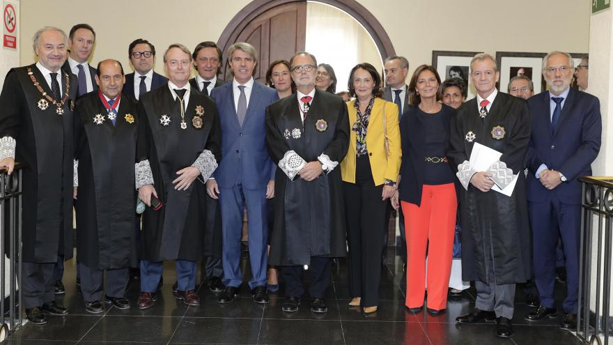 El presidente de la Comunidad de Madrid, Ángel Garrido, ha asistido hoy al acto solemne de apertura del Año Judicial de la Comunidad de Madrid, en el que ha estado acompañado por la consejera de Justicia, Yolanda Ibarrola.