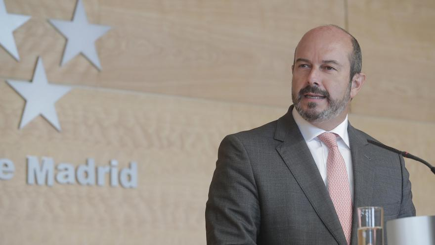 Pedro Rollán, comparece antes los medios para dar cuenta de los acuerdos del Consejo de Gobierno