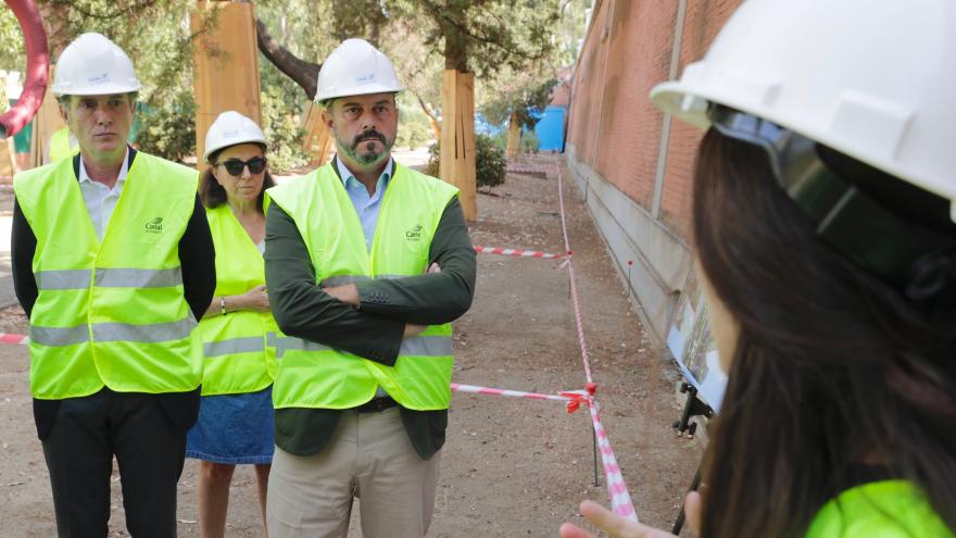 El presidente en funciones de la Comunidad de Madrid, Pedro Rollán, en las instalaciones que tiene Canal de Isabel II en la calle de Bravo Murillo