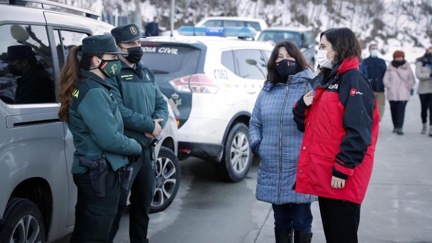 Díaz Ayuso visita la zona del sureste para evaluar los daños