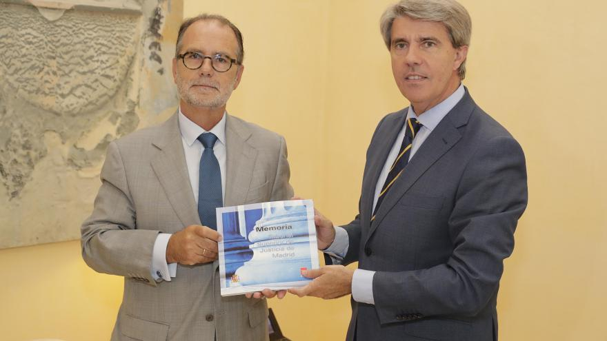 Reunión con el presidente del TSJM, Francisco Javier Vieira