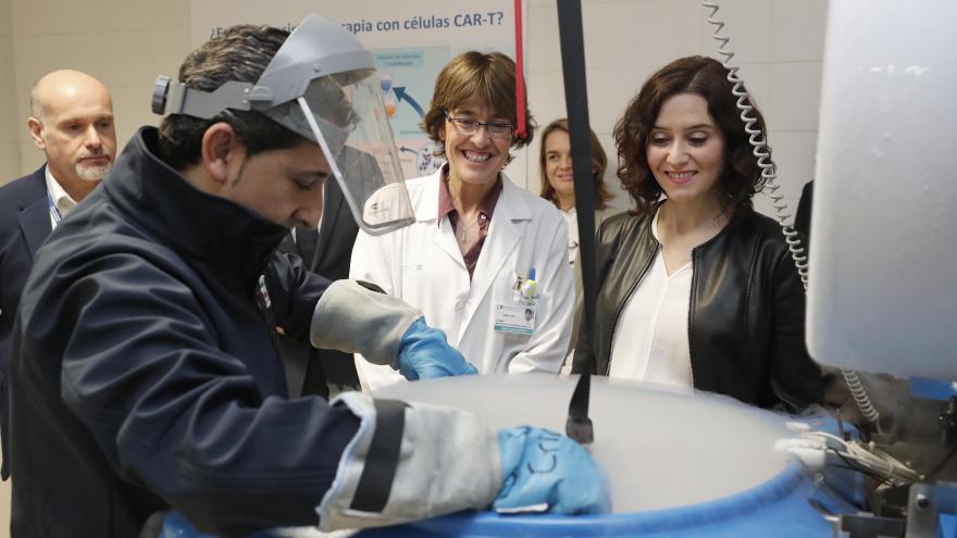 Díaz Ayuso durante la visita