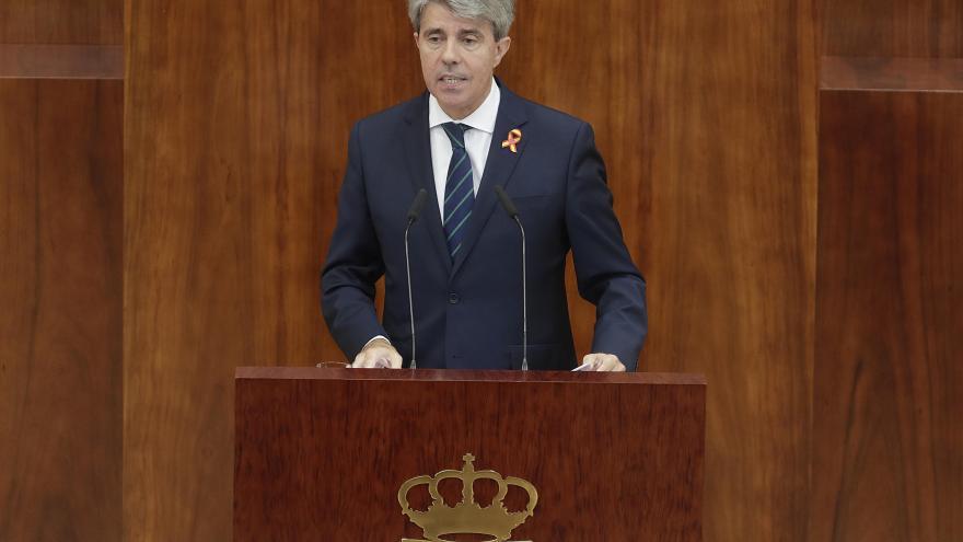 Ángel Garrido, presidente de la Comunidad de Madrid, en el Debate del Estado de la Región 2018