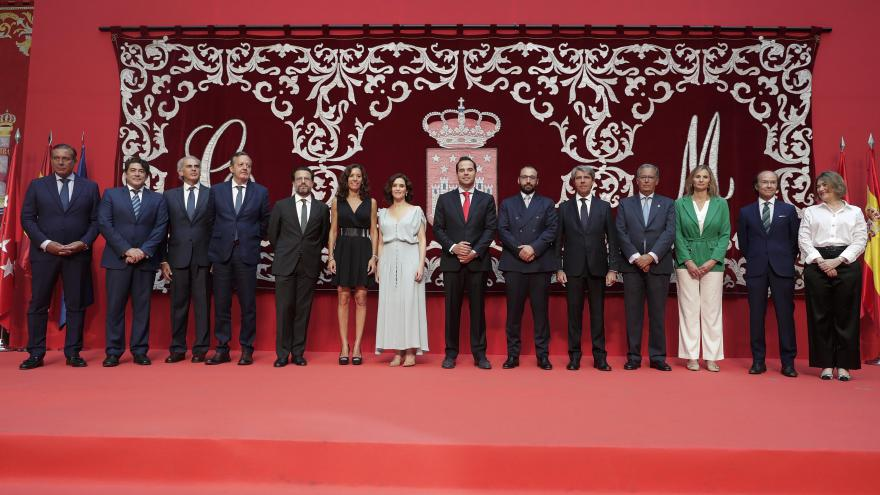 Foto de grupo del gobierno de la Comunidad de Madrid