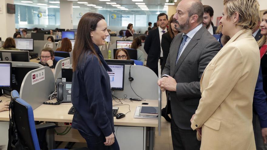 Pedro Rollán durante la visita