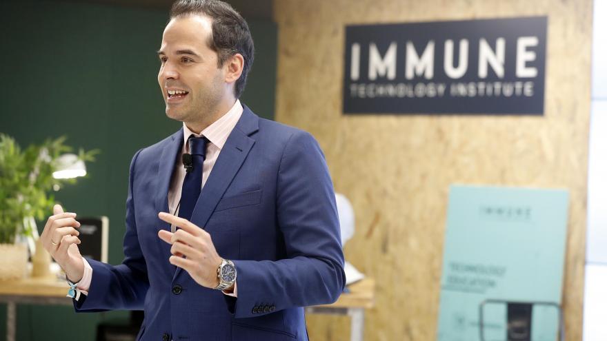Ignacio Aguado durante en la inauguración del IMMUNE Technology Institute