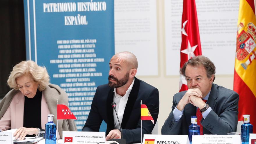 El consejero Jaime de los Santos presenta ante el Consejo Nacional de Patrimonio la candidatura del Retiro y el Paseo del Prado como Patrimonio Mundial de la UNESCO
