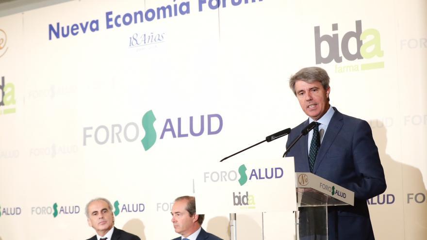 Ángel Garrido durante su intervención en el acto