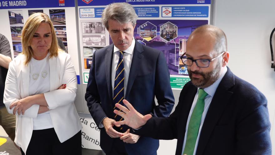 Garrido visita el Centro Tecnológico de la Estación 4.0 donde se prueban los sistemas de las estaciones de Metro de Madrid para las próximas décadas