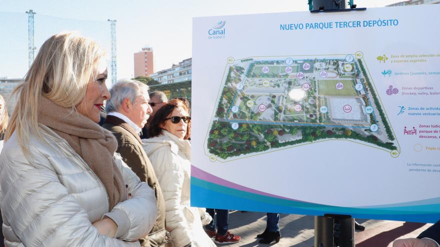 Cifuentes presenta el parque que ocupará las instalaciones de golf de Chamberí