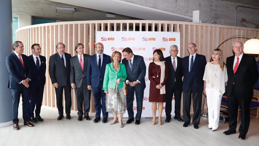 El presidente en funciones de la Comunidad de Madrid, Pedro Rollán, en la celebración del 50 aniversario del nacimiento de Calidad Pascual