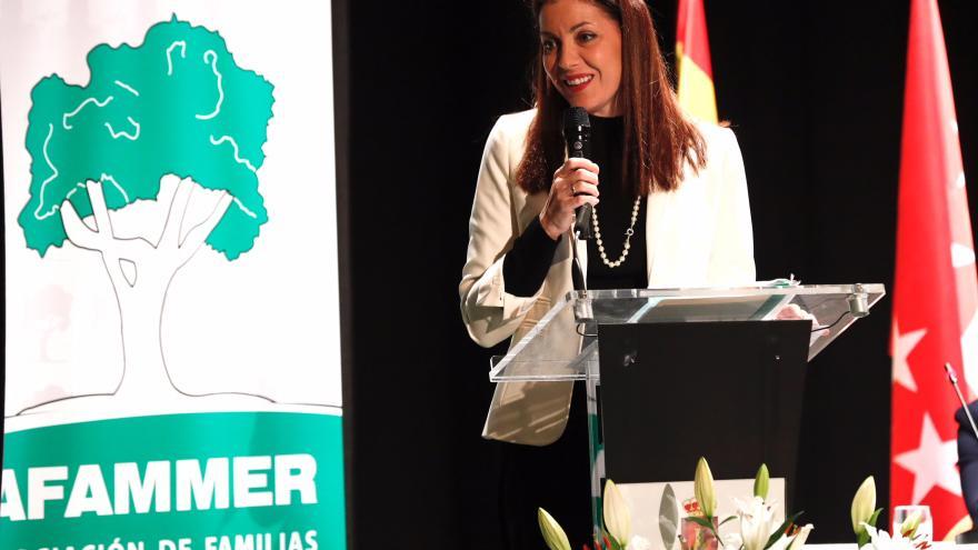 Lola Moreno durante el acto